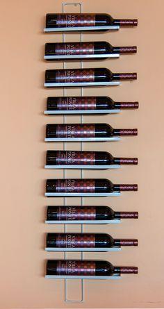 Weinregal Dies White 116cm aus Metall für 10 Flaschen Flaschenständer Wandregal 2