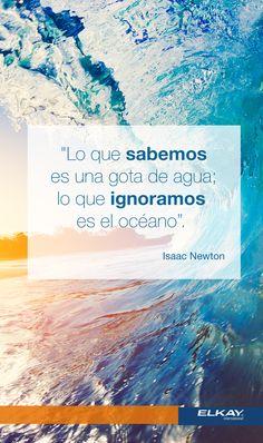 """""""Lo que sabemos es una gota de agua; lo que ignoramos es el océano"""". Isaac Newton"""