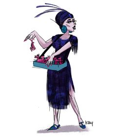 So dapper, so Disney. Imagine if the Disney villains were re-imagined from yesteryear? Yzma