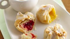 """Pie Poppers {Pillsbury} -- Yum, don't you just want to """"pop"""" one in your mouth right now?! <3 How about blueberry, chocolate, apple, or nutella!!! ;D oh..."""