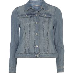 Dorothy Perkins Bleach Denim Jacket ($43) ❤ liked on Polyvore featuring outerwear, jackets, blue, columbus blue jackets, bleached denim jacket, blue jackets, leather jacket et dorothy perkins