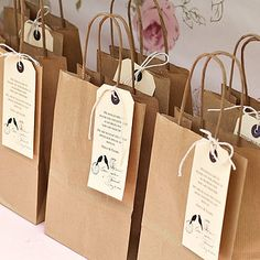Personalised Wedding Favour Bag And Label by Beautiful Day £1.25 4 customer reviews