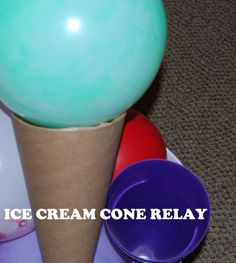 Ice Cream Science and Relay Game for Kids!