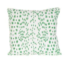 Just LOVE all her pillows.  Green Les Touches Pillow