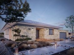 Today, we are going to visit a stunning modern home, designe… Bungalow, Modern Farmhouse Plans, Exterior, Small House Plans, Architecture Plan, Planer, Beautiful Homes, Pergola, Home And Family