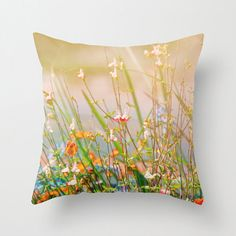 Decorative Pillow Wildflower Photography Print Throw Pillow Lumbar Pillow Romantic Gift Functional Art Gift For Her Home & Office Decor Sofa Throw Pillows, Lumbar Pillow, Home Office Decor, Home Decor, Wild Flowers, Decorative Pillows, Gifts For Her, Tapestry, Romantic