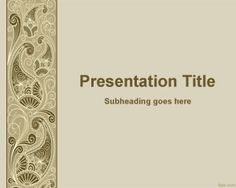 Decorative PowerPoint template is a free PowerPoint template for decoration and…