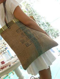 Vintage Burlap Bag by katgal12