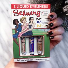 Holiday Gift Idea - Schwing Trio Liquid Eyeliner by The Balm Holiday Gift Guide, Holiday Gifts, Hand Cream Gift Set, Perfume Gift Sets, First Aid Beauty, Drunk Elephant, Cruelty Free Makeup, Travel Size Products, The Balm