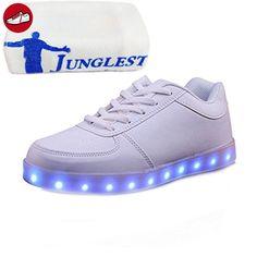 (Present:kleines Handtuch)Schwarz EU 26, JUNGLEST® Sportschuhe Athletische USB M?dchen Schuhe Sneakers Bunte mit LED Jungen F