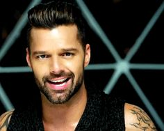 Ricky Martin - love his smile.