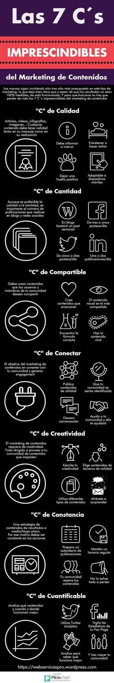 Las 7 C's imprescindibles del Marketing de Contenidos #infografia