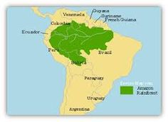 Image result for amazon rainforest location map