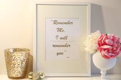 Real Gold Foil Print Remember Me I will Remember by MoonOrchids