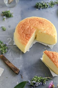 Fluffy and Light Japanese Cheesecake