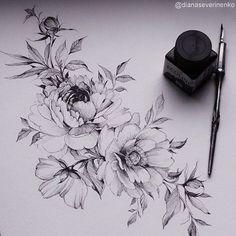 Blumen Designs + 120 Designs – Tattoos Ideen – Brenda O. Tattoo ideen - flower tattoos - Blumen Designs 120 Designs Tattoos Ideen Brenda O. Tattoo Sketches, Tattoo Drawings, Body Art Tattoos, Sleeve Tattoos, Cool Tattoos, Tatoos, Flower Tattoo Designs, Flower Tattoos, Flower Designs