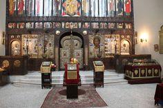 Blick auf die Ikonenwand der russ. Kirche