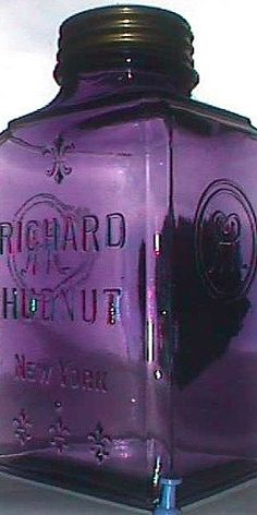 Large antique Purple Glass jar, by Plowgirl