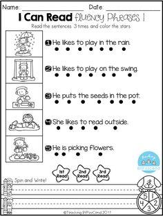 Free Fluency Phrases for Kindergarten These fluency phrases are perfect for students in kindergarten and in first grade. These fluency phrases are perfect for ESL/ELL students. | kindergarten reading fluency | writing fluency | kindergarten fluency phrases | first grade | ESL | ELL | kindergarten reading | Freebies | free kindergarten worksheet|