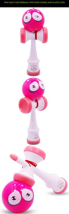 Pink Smiley Face Kendama With White Handle and Plastic Cups #products #gadgets #parts #plans #kendama #drone #fpv #kit #technology #tech #shopping #camera #plastic #racing