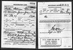 Military Monday: Walter Stillman Glover World War I Draft Registration #genealogy