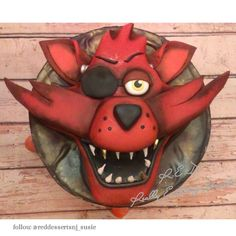 Five nights at Freddy's cake. Foxy from fnaf cake! sick details!