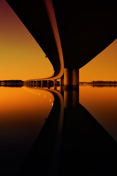 Untitled by Marek Czaja, via 500px #photography #urban #bridge #architecture #abstract #water #manmade