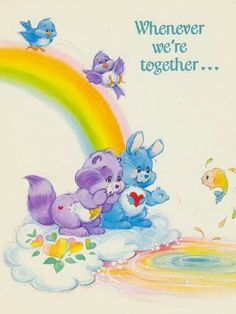 Care Bear Cousins: Swift Heart Rabbit & Bright Heart Raccoon Card