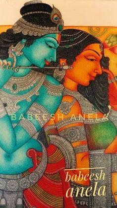 Ganesha Painting, Ganesha Art, Krishna Art, Mandala Painting, Mandala Art, Art Forms Of India, India Art, Black Canvas Paintings, Indian Art Paintings