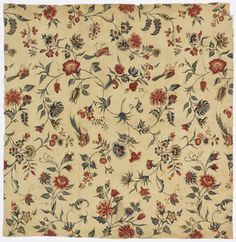 Chintz, 18th century - smithsonian collection.  Other examples on page