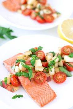 This recipe is SO easy to make and yields the most tender, delicious salmon ever. Have you ever poached salmon? I can't believe I waited so long. Poaching is my new favorite salmon-cooking method. The meat turns out so tender. It's buttery soft. This recipe is paleo, gluten free, dairy free, and fairly low carb! Best of all, it only takes 25 minutes to make from start to finish.