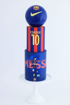 Soccer Cake Ideas – Partyfide - Messi Soccer Cake - Couture Cakehouse Melbourne