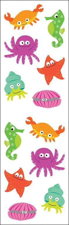 Mrs. Grossman's Stickers - Chubby Sea Life