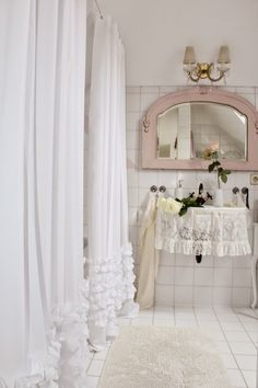 Shabby Chic Bathrooms Pink Cottage Interiors Colors White