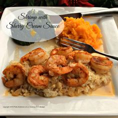 Cooking On A Budget: Shrimp with Sherry Cream Sauce Shrimp Dishes, Shrimp Recipes, Sherry Cream Sauce Recipe, Crab Bake, Puff Pastry Recipes Savory, Shrimp Casserole, Budget Desserts, Cooking On A Budget, Food Budget
