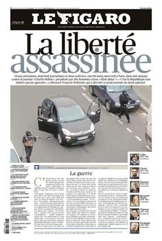 Le Figaro on Charlie Hebdo attack. Newspaper Front Pages, Newspaper Cover, Satire, Le Bataclan, Charlie Hebdo, Le Figaro, Bbc News, Embedded Image Permalink, Dom
