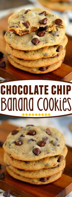 Throwing out ripe bananas is a serious no-no in my book. Don't do it! Make cookies instead! These Easy Chocolate Chip Banana Cookies are sure to become a new favorite - so soft and delicious, they're impossible to resist! | Mom On Timeout