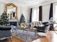 Beautiful Paris Apartment Decorated for Christmas ...