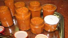 hriankydobrota Thing 1, Ketchup, Hot Sauce Bottles, Preserves, Sweet Potato, Mason Jars, Tzatziki, Appetizers, Food And Drink