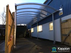 Workshop Bay Canopy installed in Walsall by Kappion Carports & Canopies Commercial Canopy, Carport Canopy, Walsall, Canopies, Motorhome, Workshop, Contemporary, Outdoor Decor, Home Decor