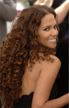 Halle Berry...dont forget she's a naturally curly cutie that prefers her hair short:)