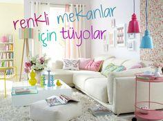 Eğer ferah, renkli, aydınlık bir salonun, odan ve mutfağın olsun istiyorsan renkleri iyi kullanmalısın. Her rengin bir dili var ve her rengin diğer renkler ile yakaladığı bir uyumu. Şimdi sana renkleri nasıl kullanabileceğini örnekler ile anlatacağım.