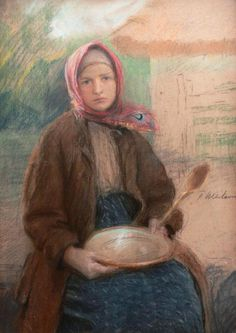 Teodor Axentowicz (Polish,1859 - 1938), pastels on...