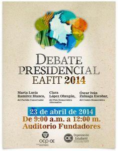 Debate Presidencial en Medellín, claro que no se cuenta con la Presencia de los ausente Juanma y Peñalosa, cobardía! pic.twitter.com/U1QlOiLfxJ