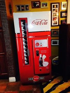 Coke Vending Machine Refrigerator Wrap sticker Every order is custom size to fit the product that your going to wrap. You get a Squeegee and blade with every order Refrigerator wraps - Rm wraps Key fe Man Cave Basement, Man Cave Garage, Coca Cola, Pepsi, Refrigerator Wraps, Refrigerator Makeover, Refrigerator Decoration, Fridge Decor, Man Cave Games