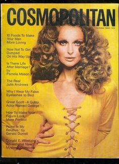 Samantha Jones for Cosmopolitan US October 1968 Life After Marriage, After Life, Old Magazines, Vintage Magazines, Fashion Magazines, Top Models, 1960s Fashion, Vintage Fashion, Vintage Style