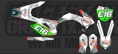 Team bike sticker kit Bike Stickers, Golf Clubs, Kit, Products, Gadget