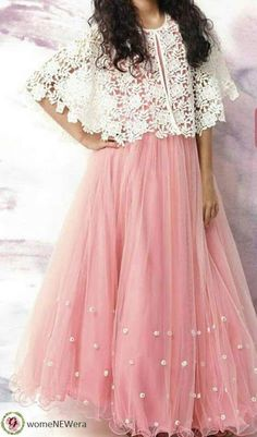 White Blouse with a skirt Long Dress Design, Stylish Dress Designs, Designs For Dresses, Stylish Dresses, Indian Gowns Dresses, Indian Fashion Dresses, Pakistani Dresses, Indian Outfits, Eid Outfits