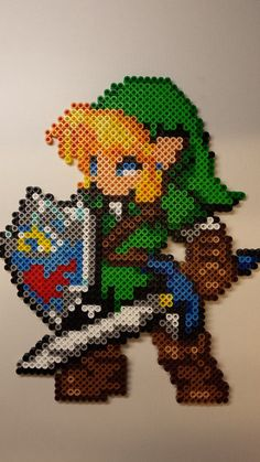Link -- perler beads by Kisaoda