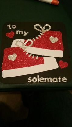 Made this valentine's day card for my boyfriend to go with the shoes I got him. Love my circuit